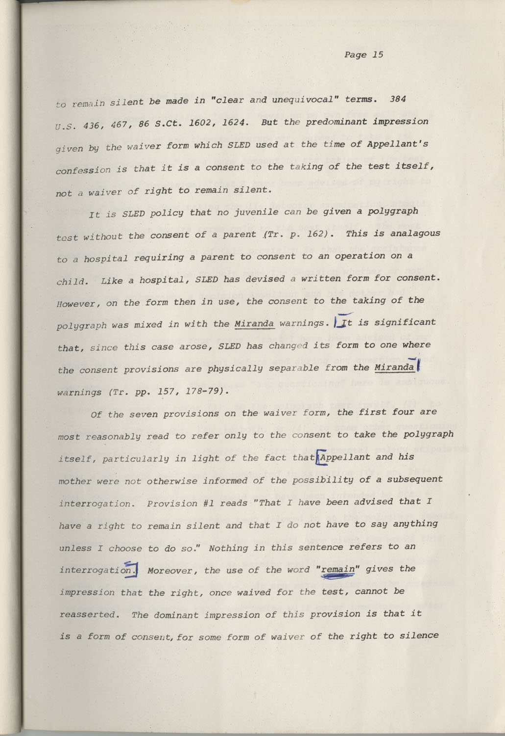 State of South Carolina vs. Robert Lee Smith, Brief of Appellant, Page 15