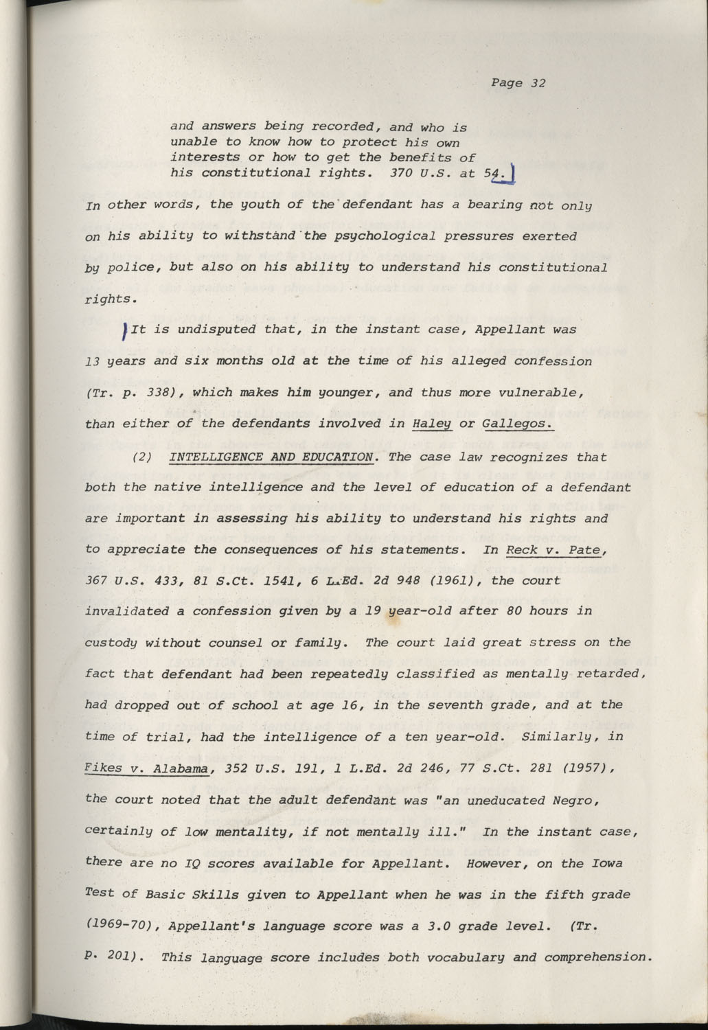 State of South Carolina vs. Robert Lee Smith, Brief of Appellant, Page 32