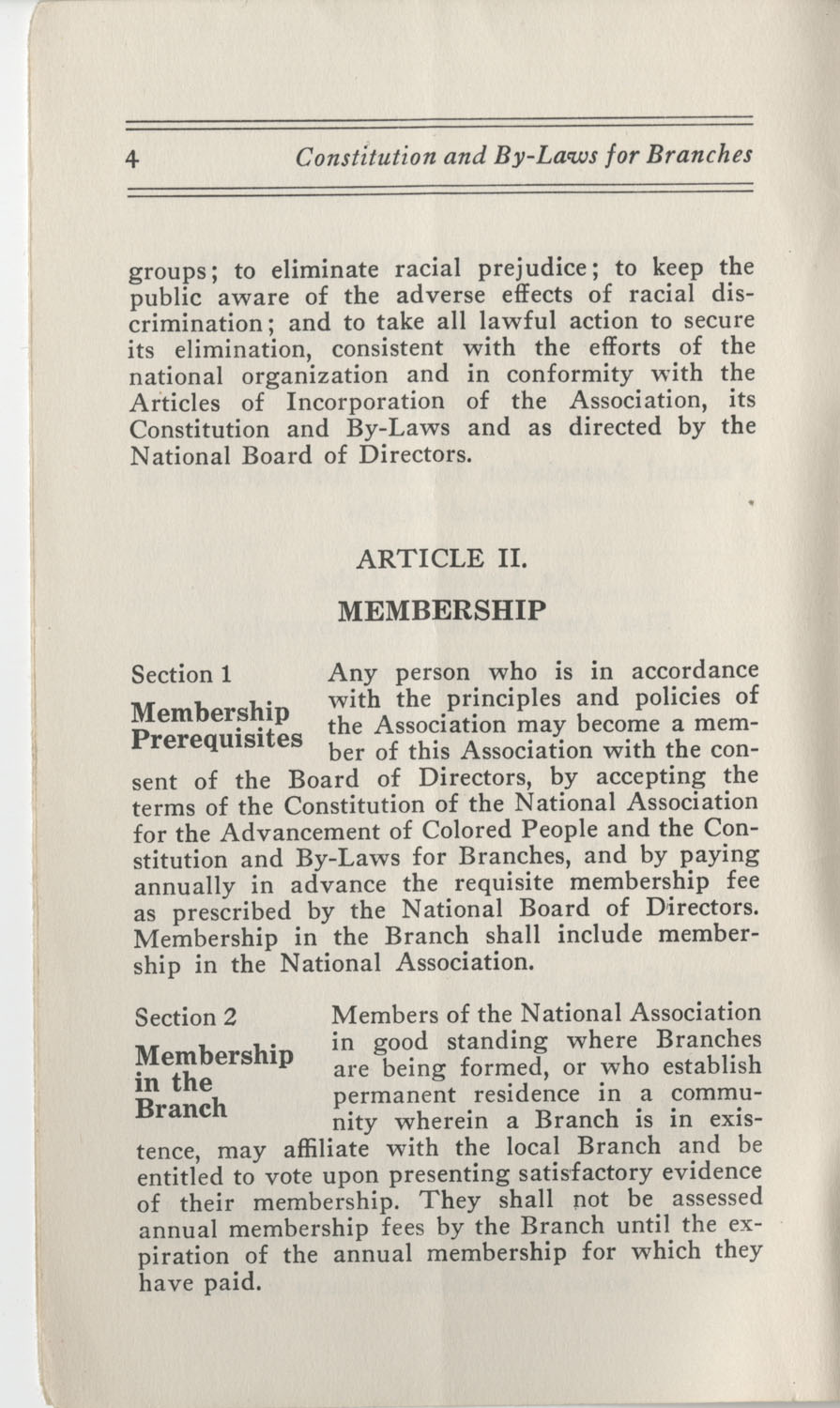 Constitutions and By-Laws, September 1960, Page 4
