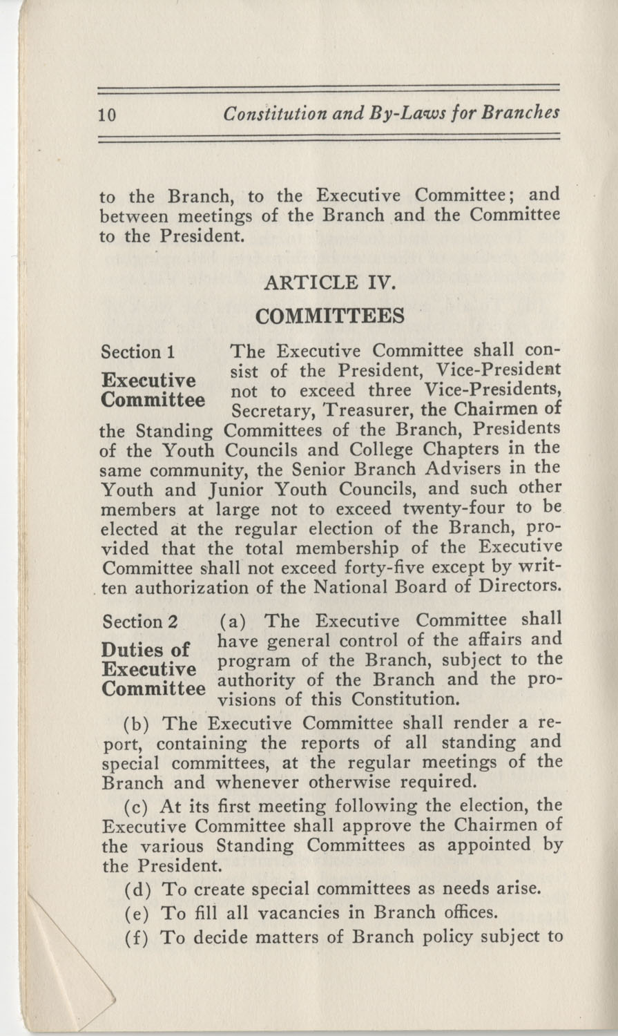 Constitutions and By-Laws, September 1960, Page 10