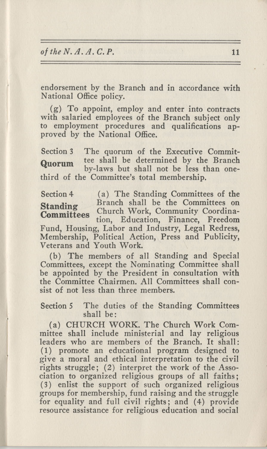 Constitutions and By-Laws, September 1960, Page 11