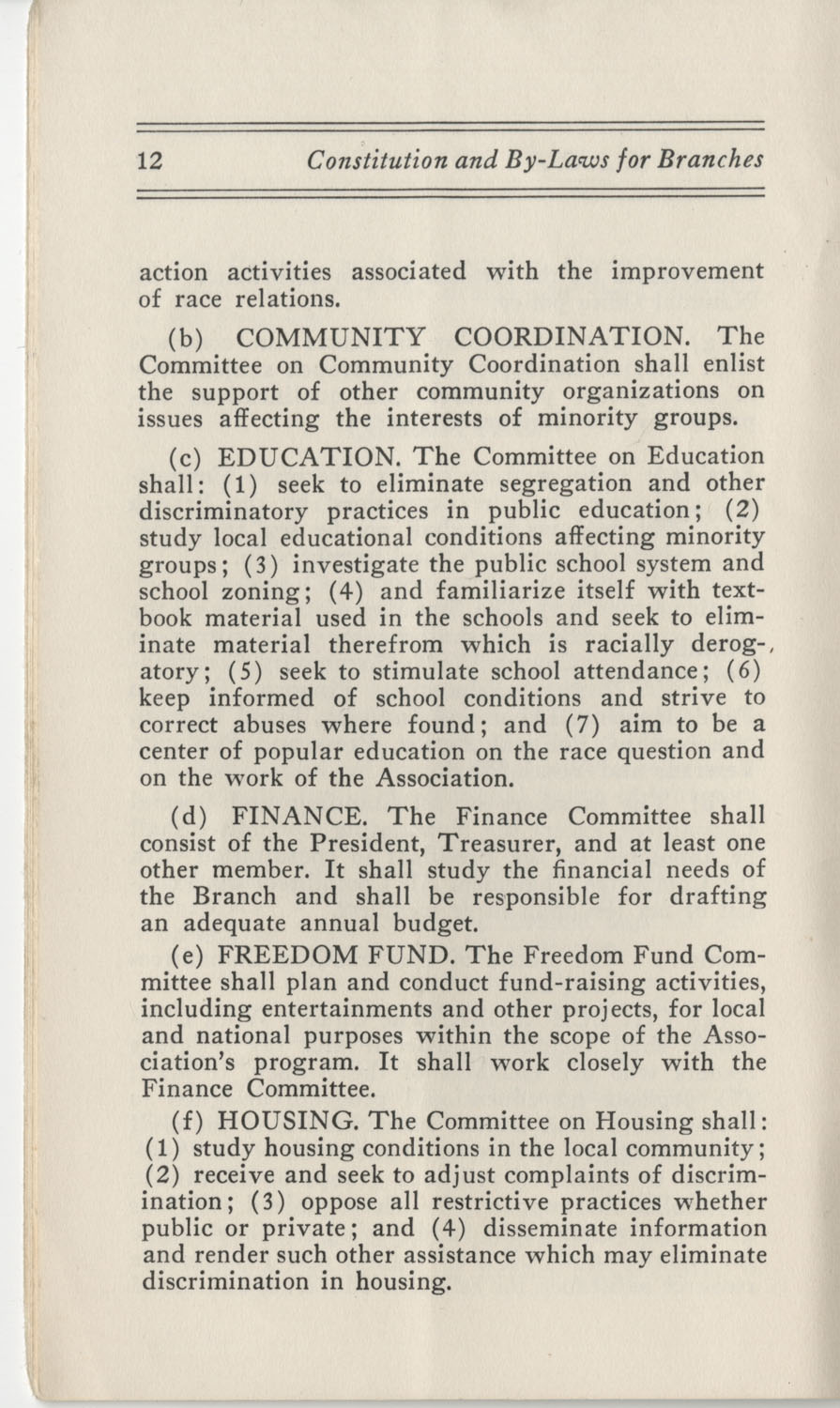 Constitutions and By-Laws, September 1960, Page 12