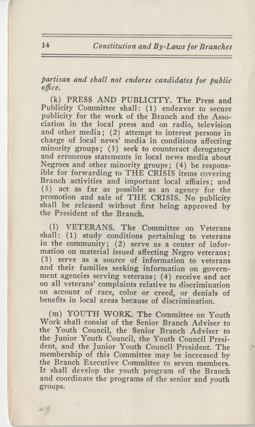 Constitutions and By-Laws, September 1960, Page 14