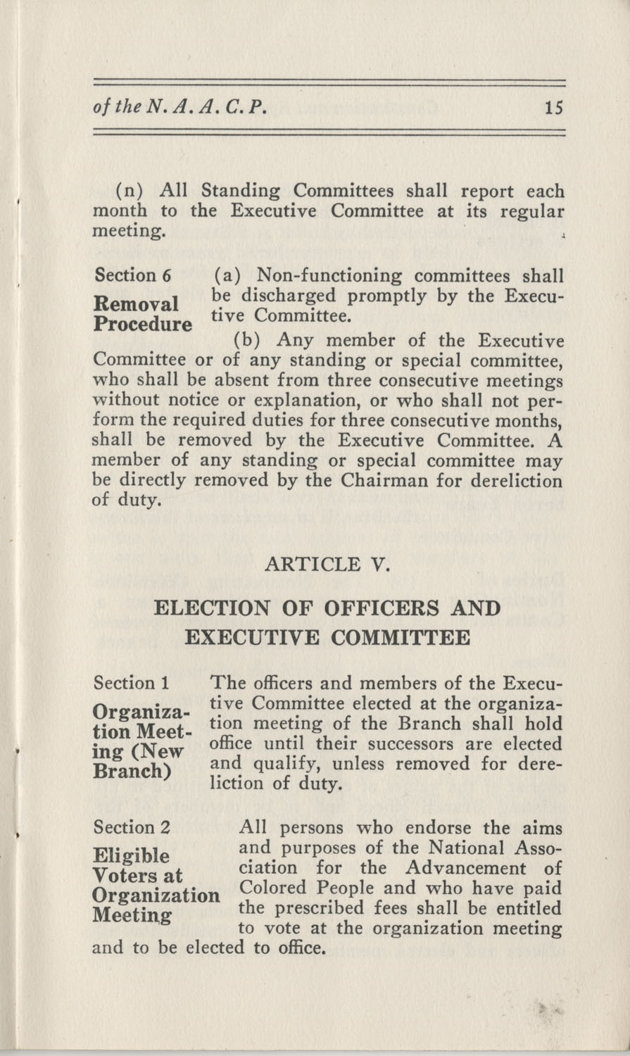 Constitutions and By-Laws, September 1960, Page 15