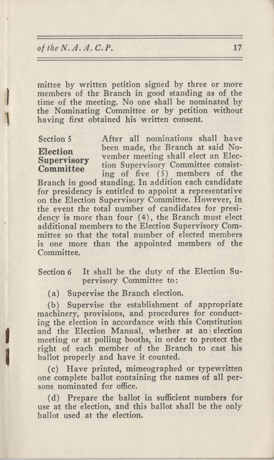 Constitutions and By-Laws, September 1960, Page 17