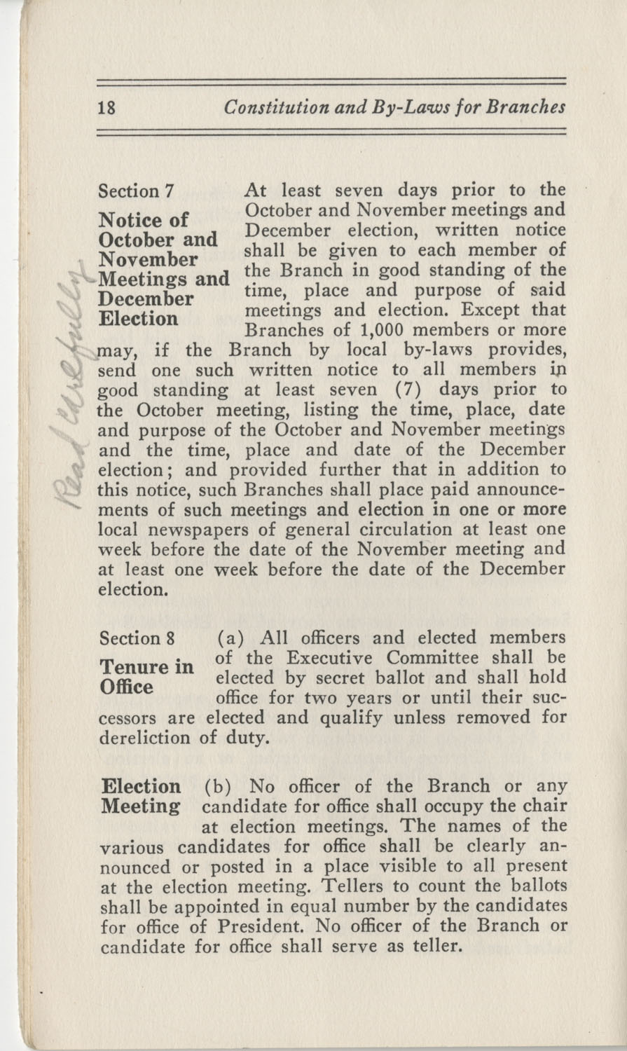 Constitutions and By-Laws, September 1960, Page 18