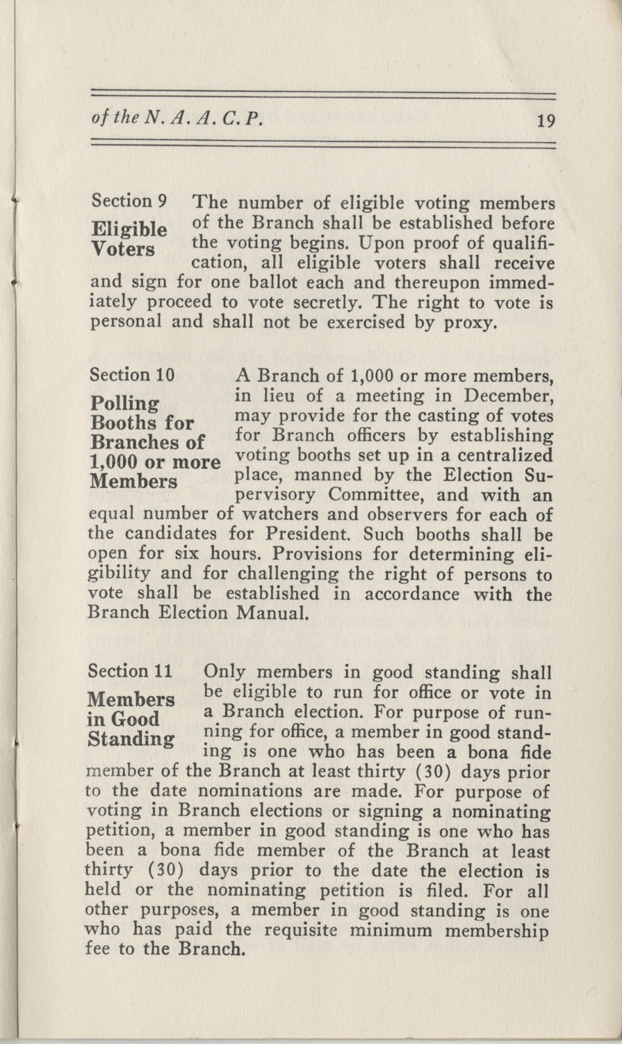 Constitutions and By-Laws, September 1960, Page 19