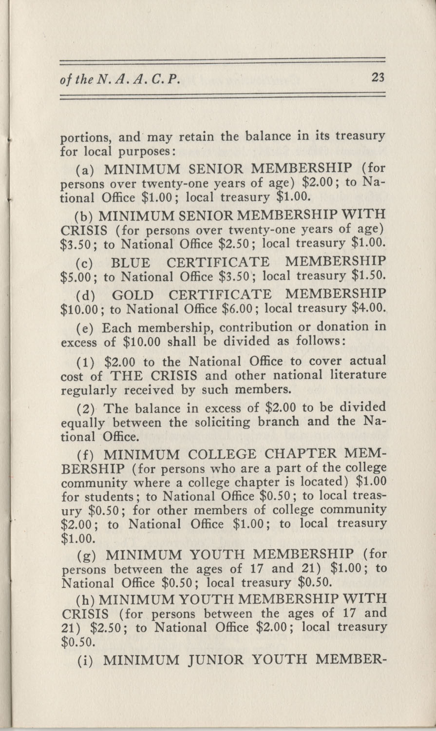 Constitutions and By-Laws, September 1960, Page 23