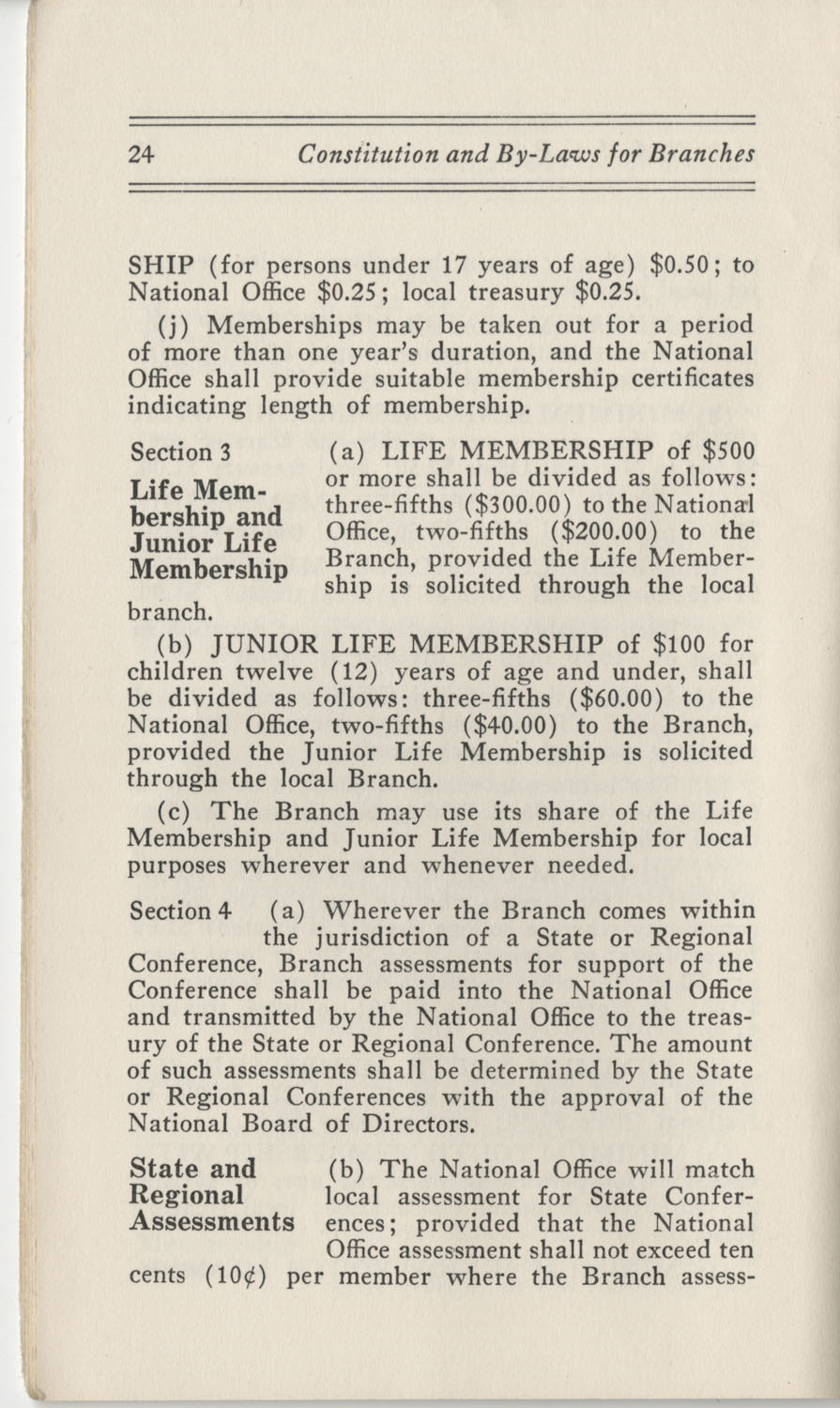 Constitutions and By-Laws, September 1960, Page 24