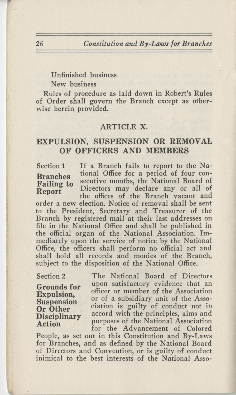 Constitutions and By-Laws, September 1960, Page 26