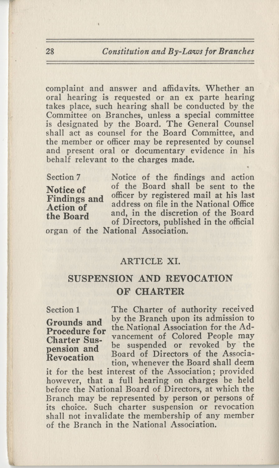 Constitutions and By-Laws, September 1960, Page 28