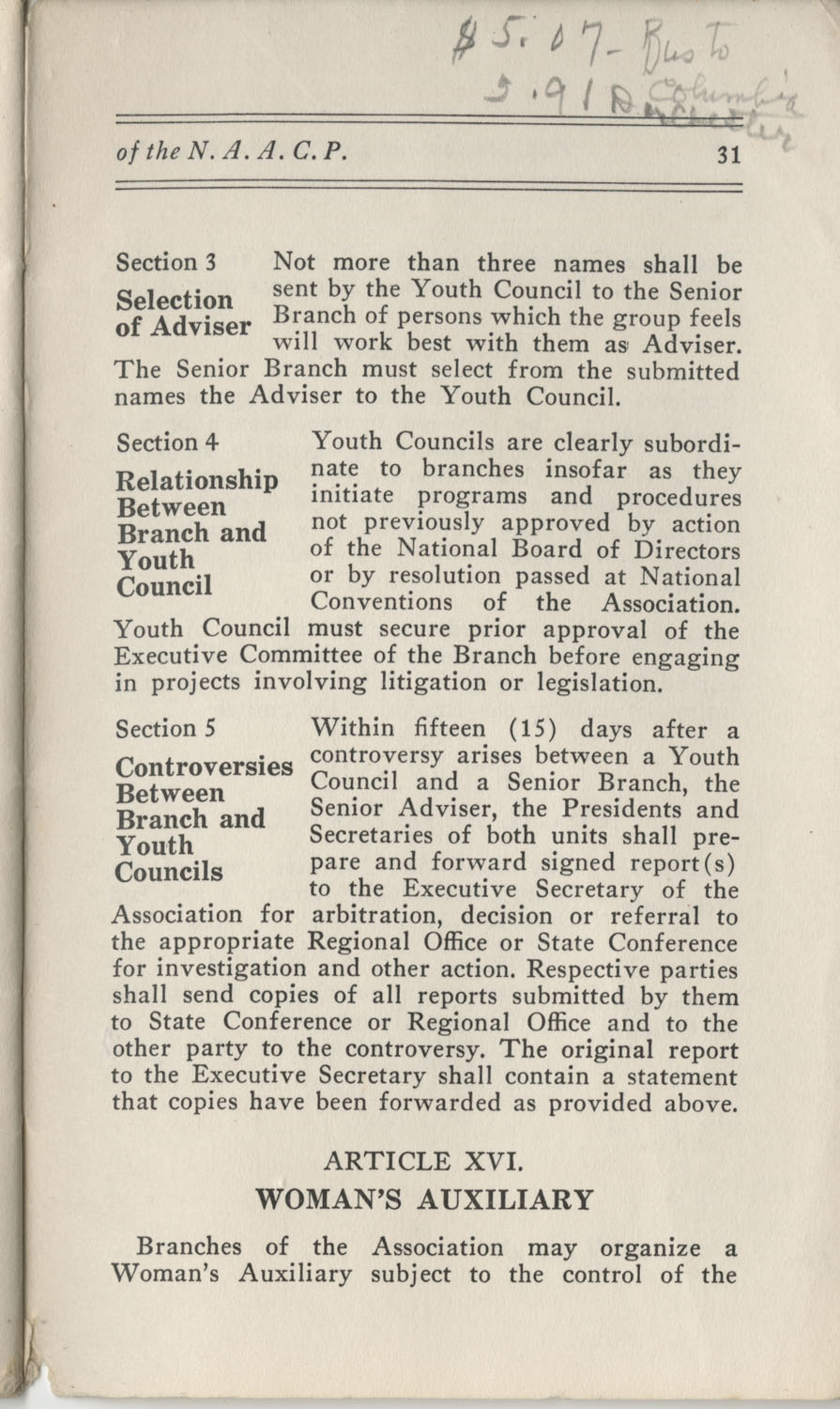 Constitutions and By-Laws, September 1960, Page 31