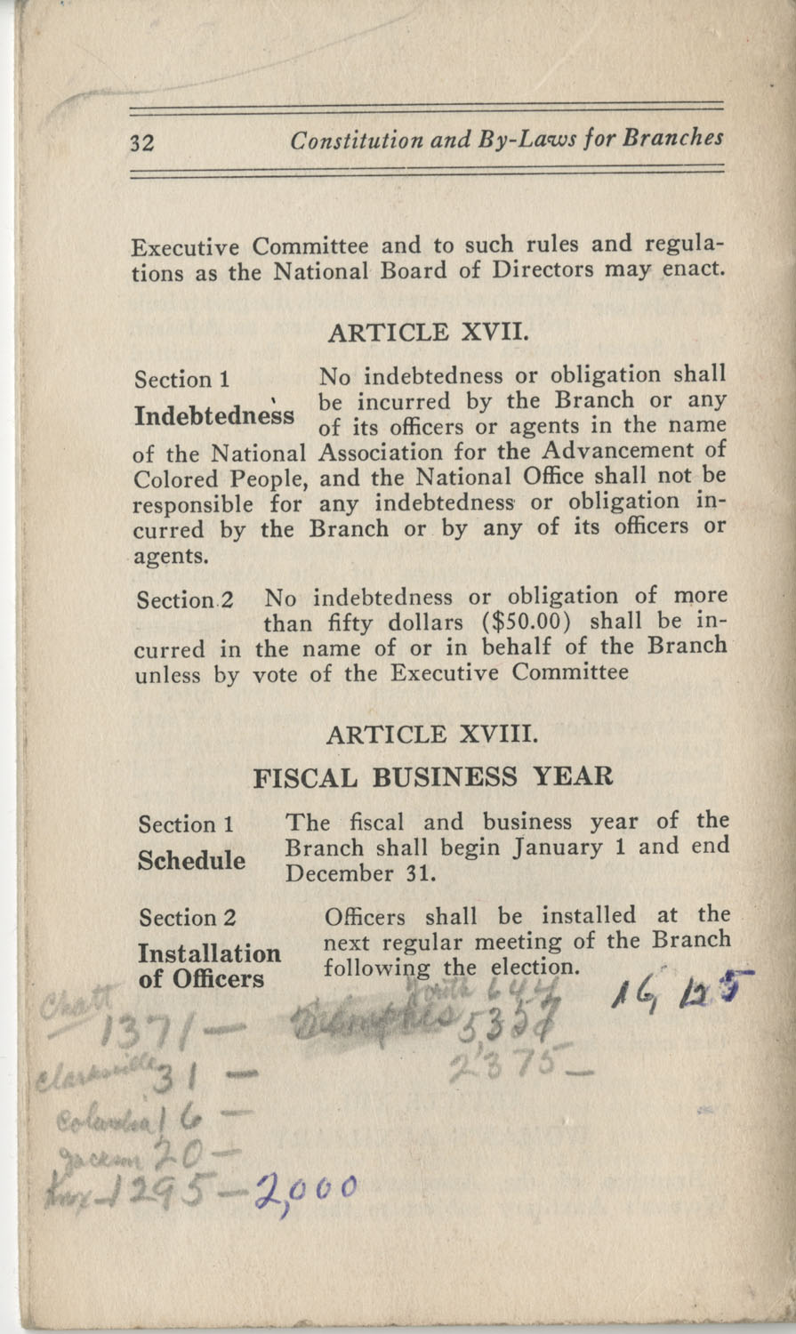 Constitutions and By-Laws, September 1960, Page 32