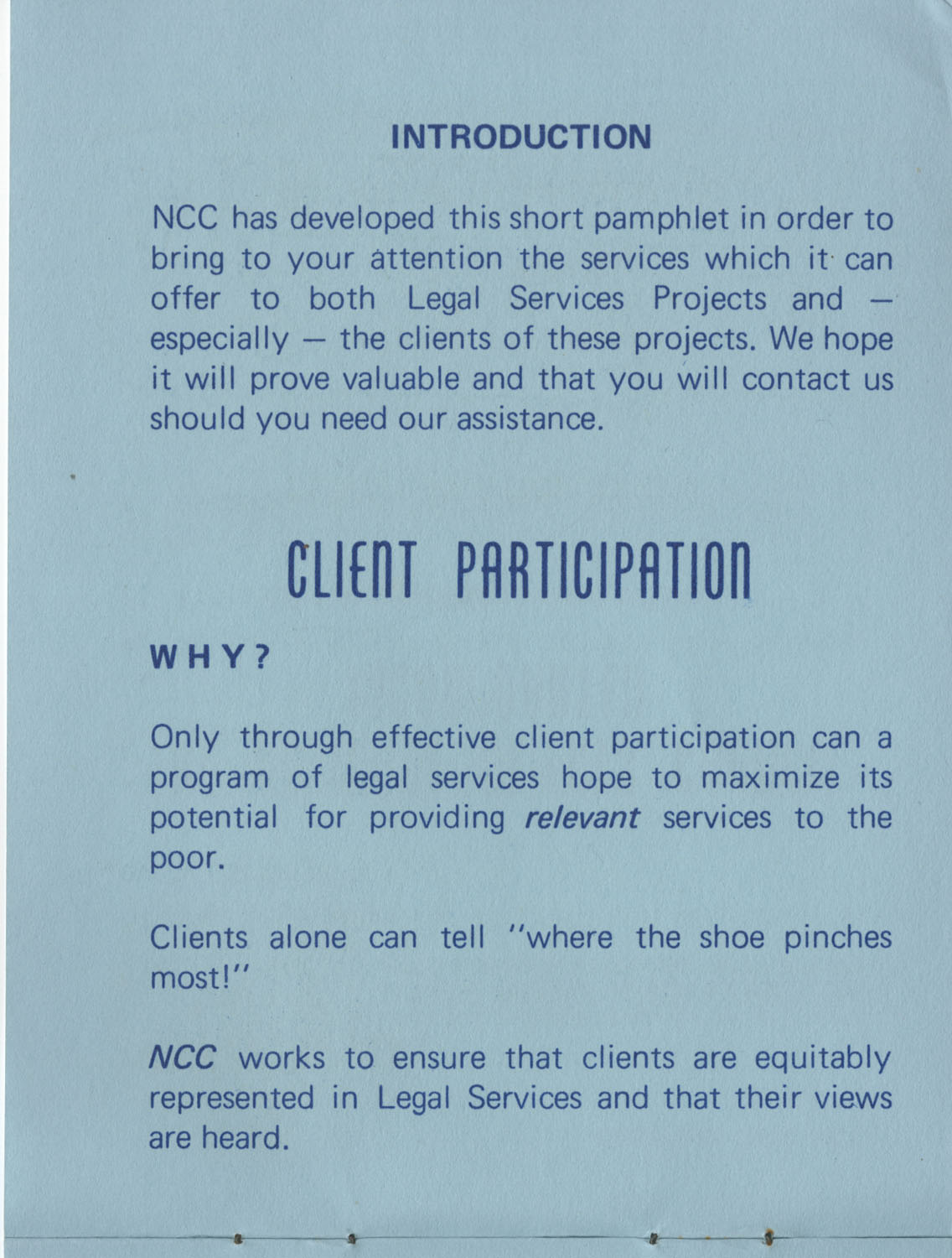 The Why's and How's of The National Clients Council, 1974, Page 2