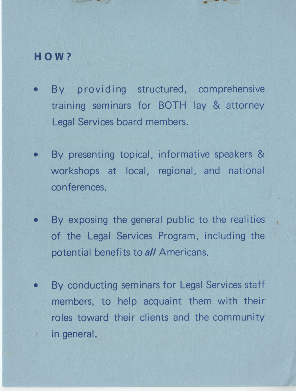 The Why's and How's of The National Clients Council, 1974, Page 6