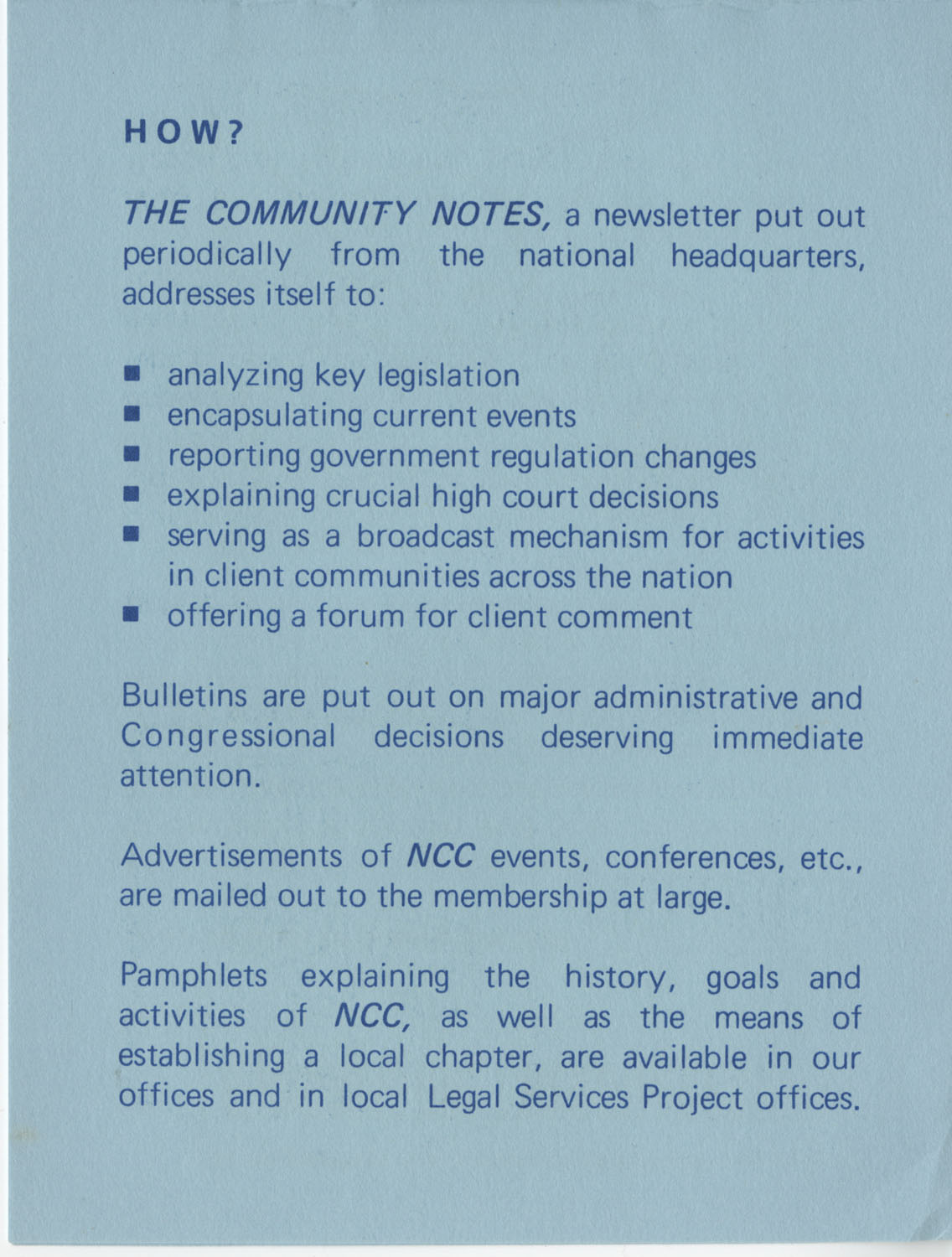 The Why's and How's of The National Clients Council, 1974, Page 8