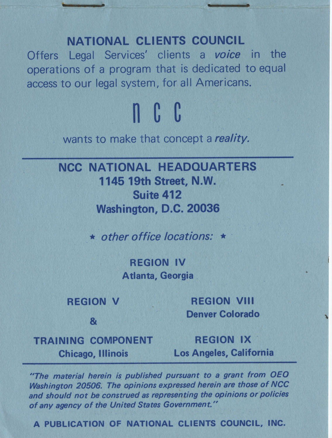 The Why's and How's of The National Clients Council, 1974, Page 11