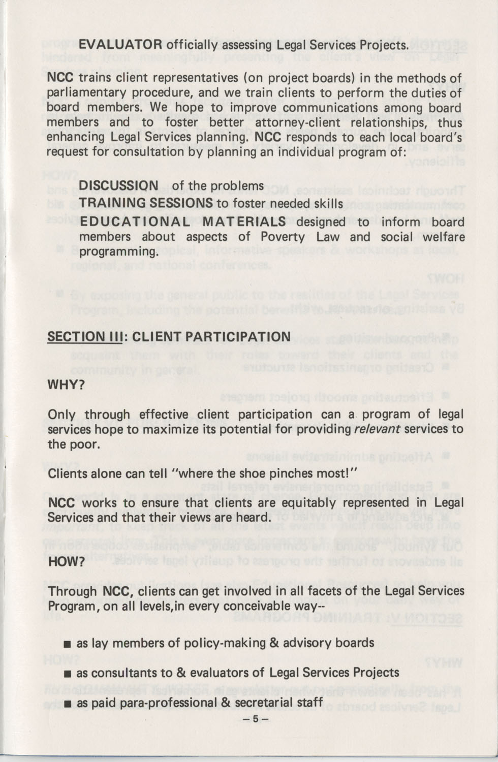 The Why's and How's of The National Clients Council, Page 5