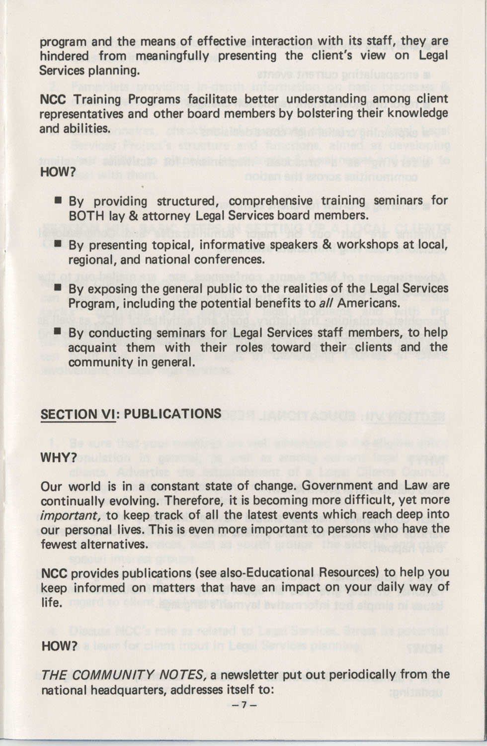The Why's and How's of The National Clients Council, Page 7