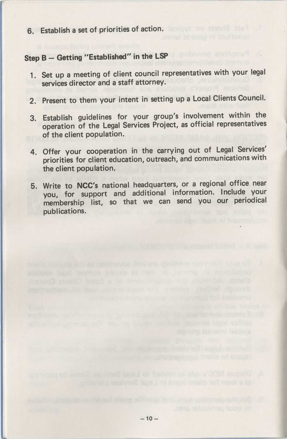 The Why's and How's of The National Clients Council, Page 10
