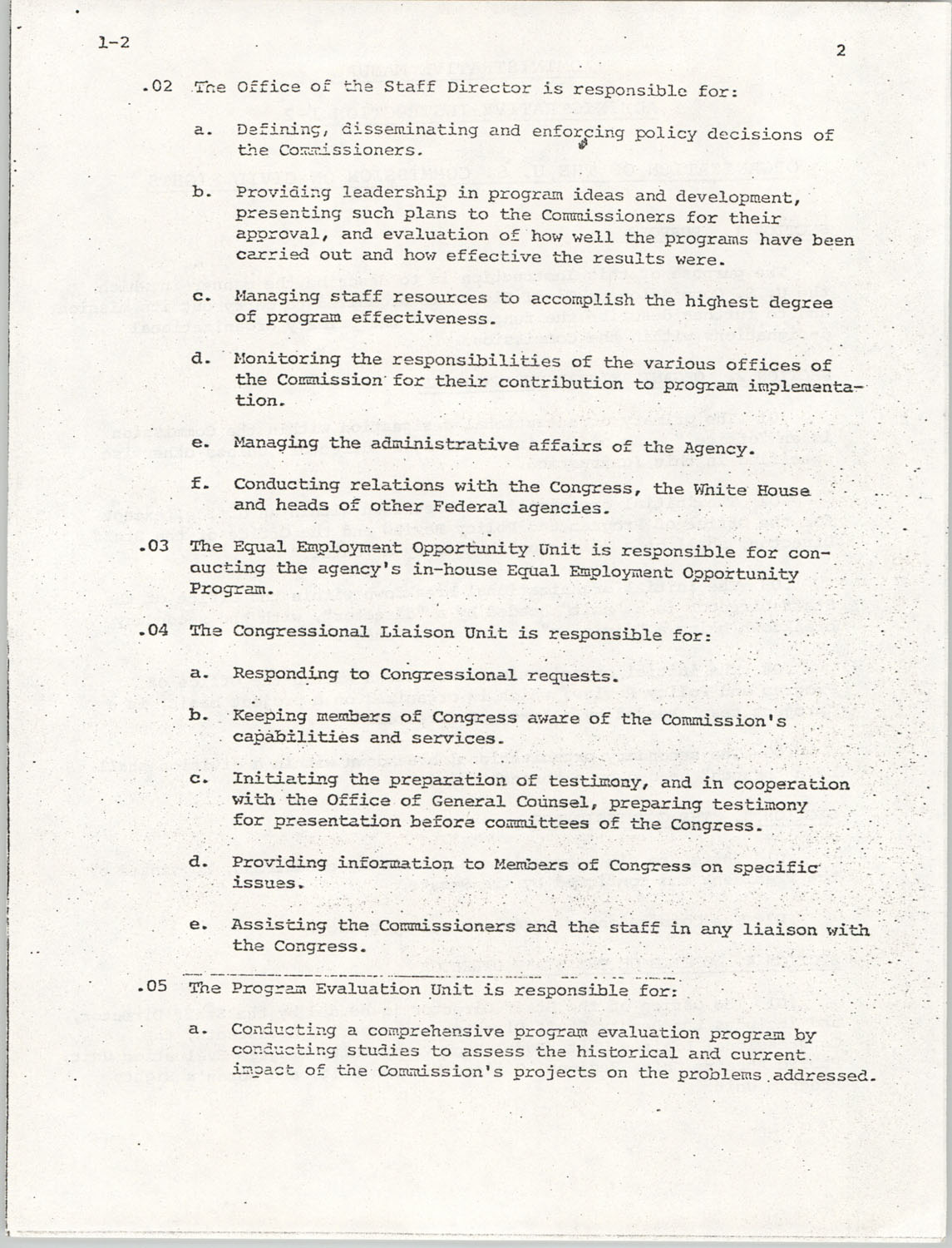 Administrative Manual Instruction 1-2, Organization of the U.S. Commission on Civil Rights, Page 2