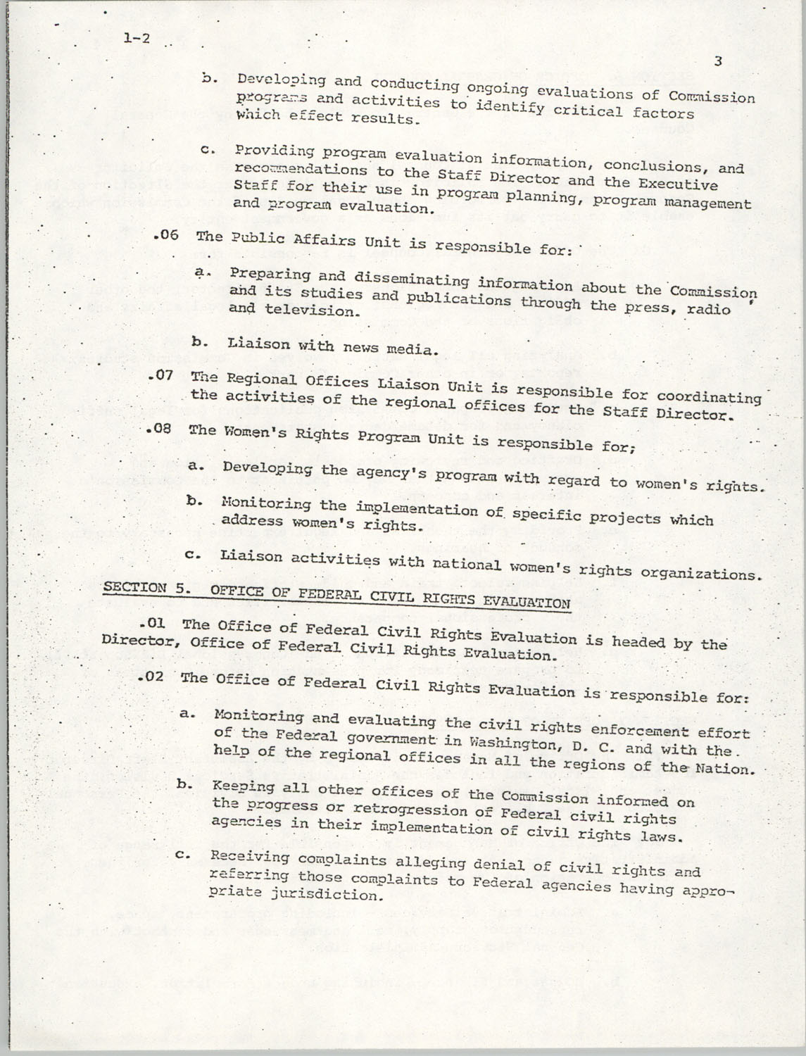 Administrative Manual Instruction 1-2, Organization of the U.S. Commission on Civil Rights, Page 3