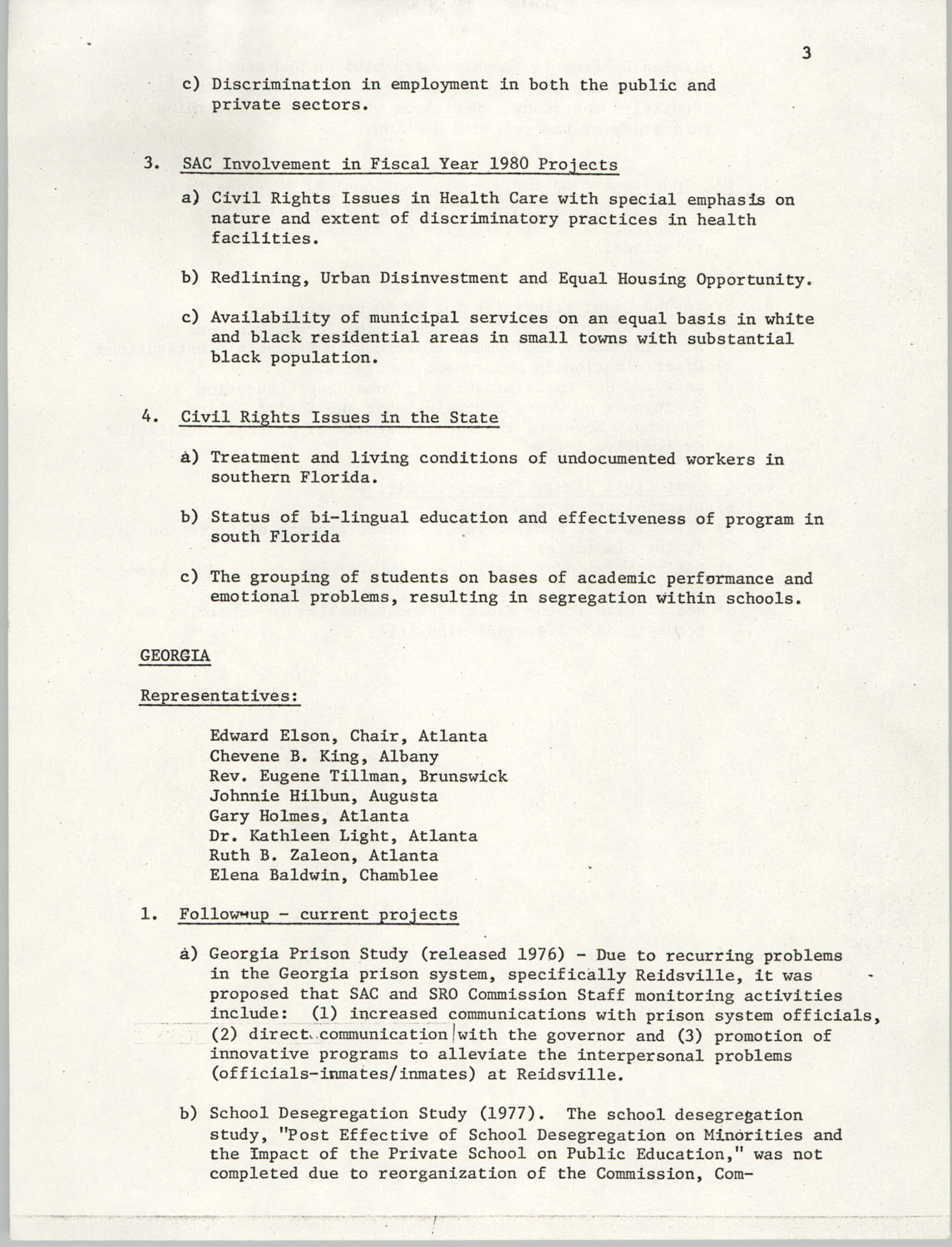 Minutes, SAC Southern Region Meeting, Page 3