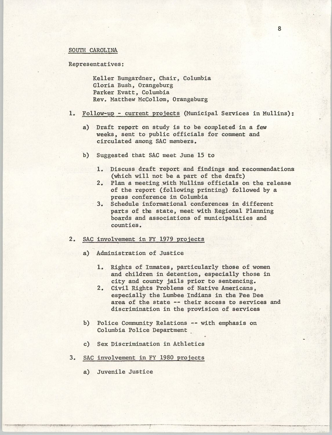 Minutes, SAC Southern Region Meeting, Page 8