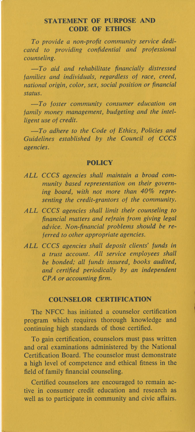 Pamphlet, National Foundation for Consumer Credit, Page 6