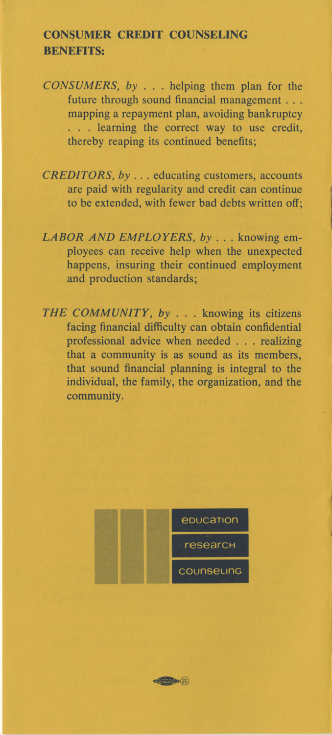Pamphlet, National Foundation for Consumer Credit, Page 10