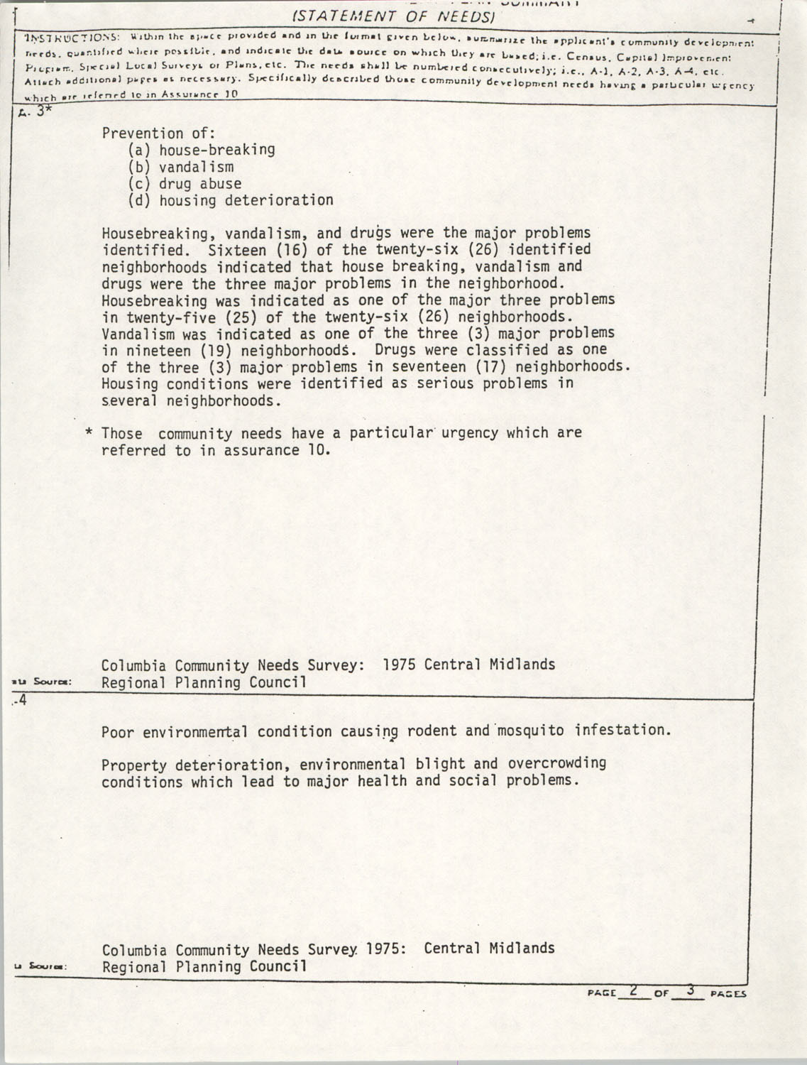 Community Development Act Columbia, South Carolina Materials, South Carolina,  Page 3
