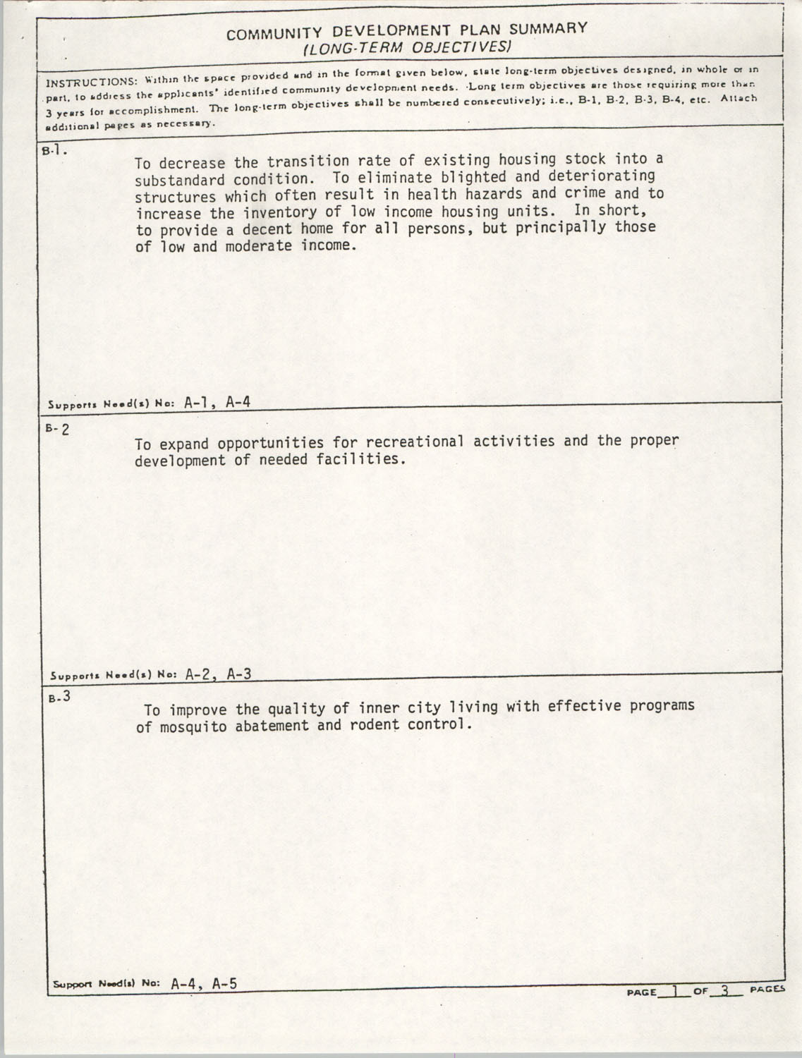 Community Development Act Columbia, South Carolina Materials, South Carolina,  Page 5