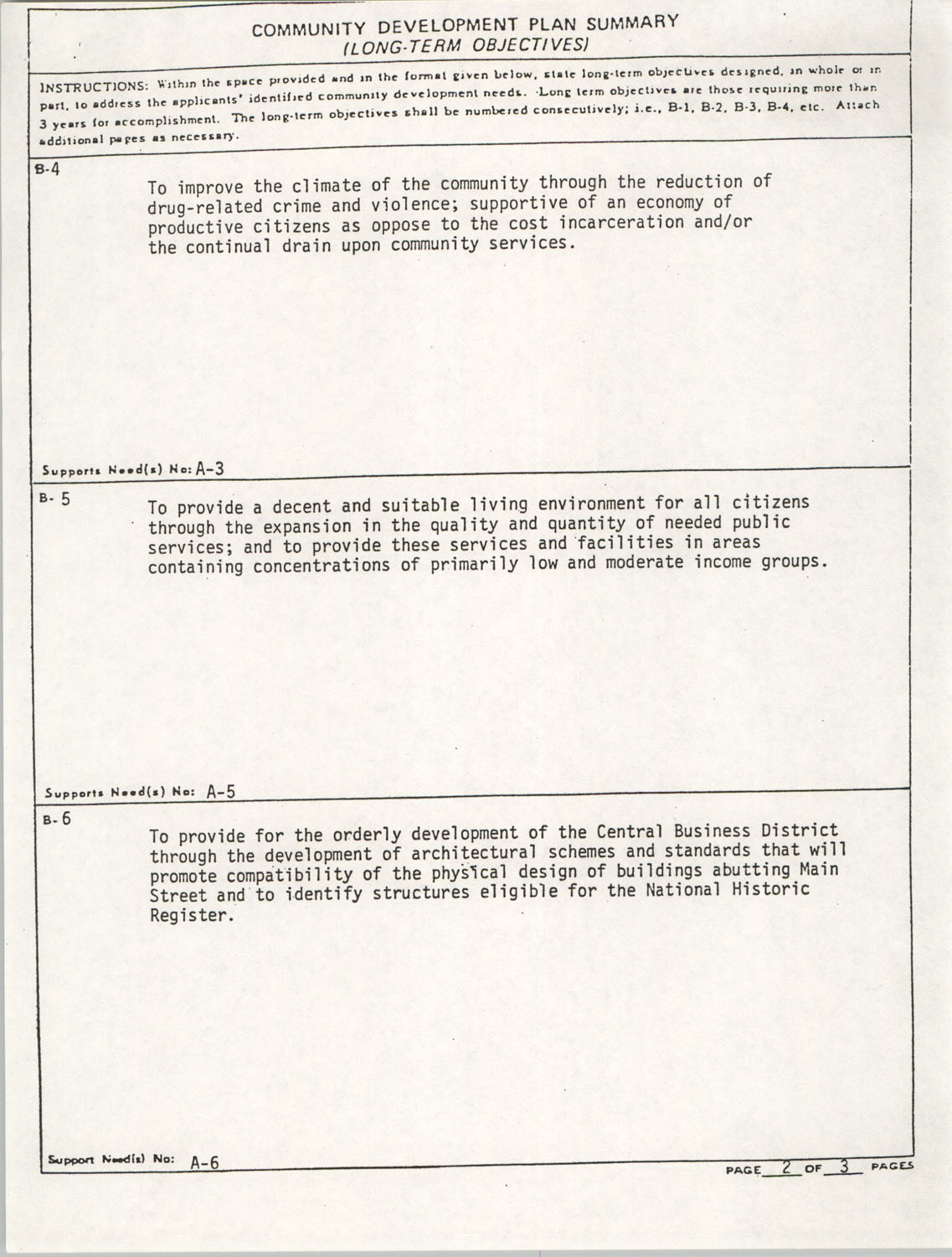 Community Development Act Columbia, South Carolina Materials, South Carolina,  Page 6