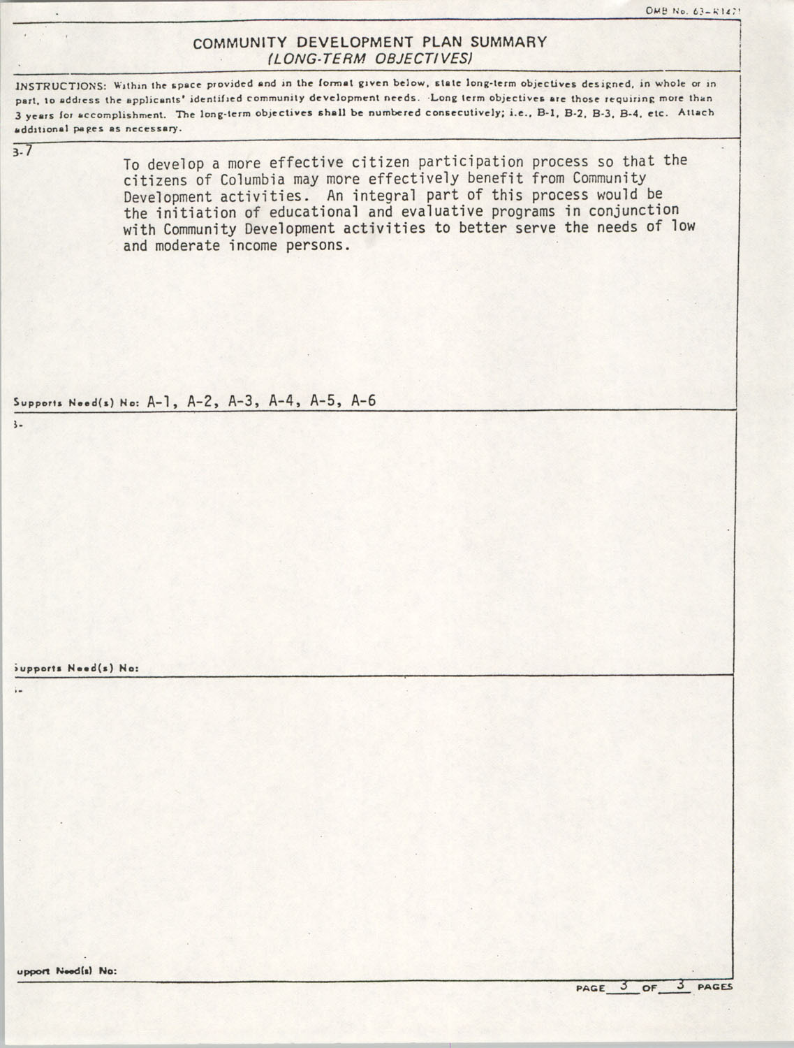 Community Development Act Columbia, South Carolina Materials, South Carolina,  Page 7