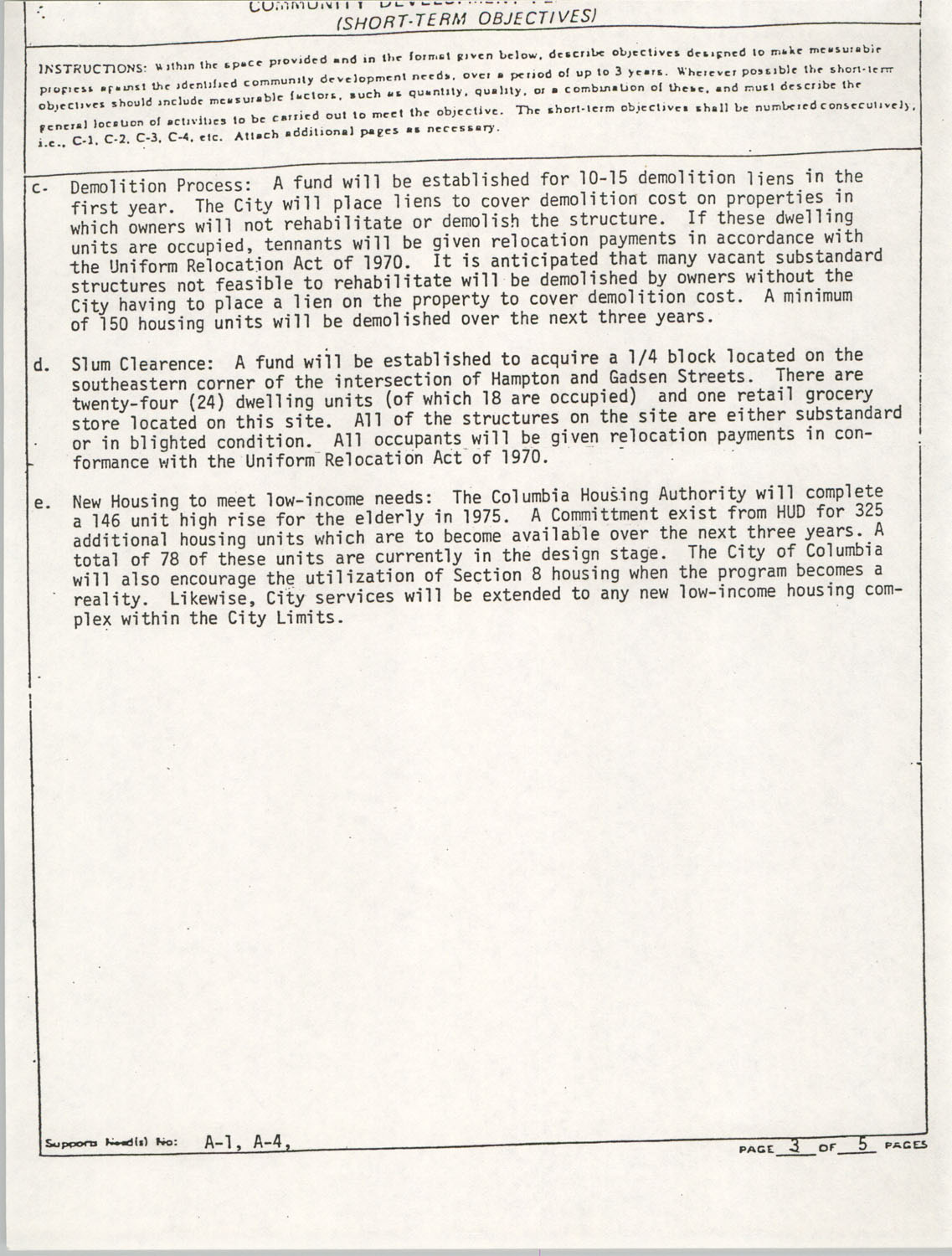 Community Development Act Columbia, South Carolina Materials, South Carolina,  Page 10