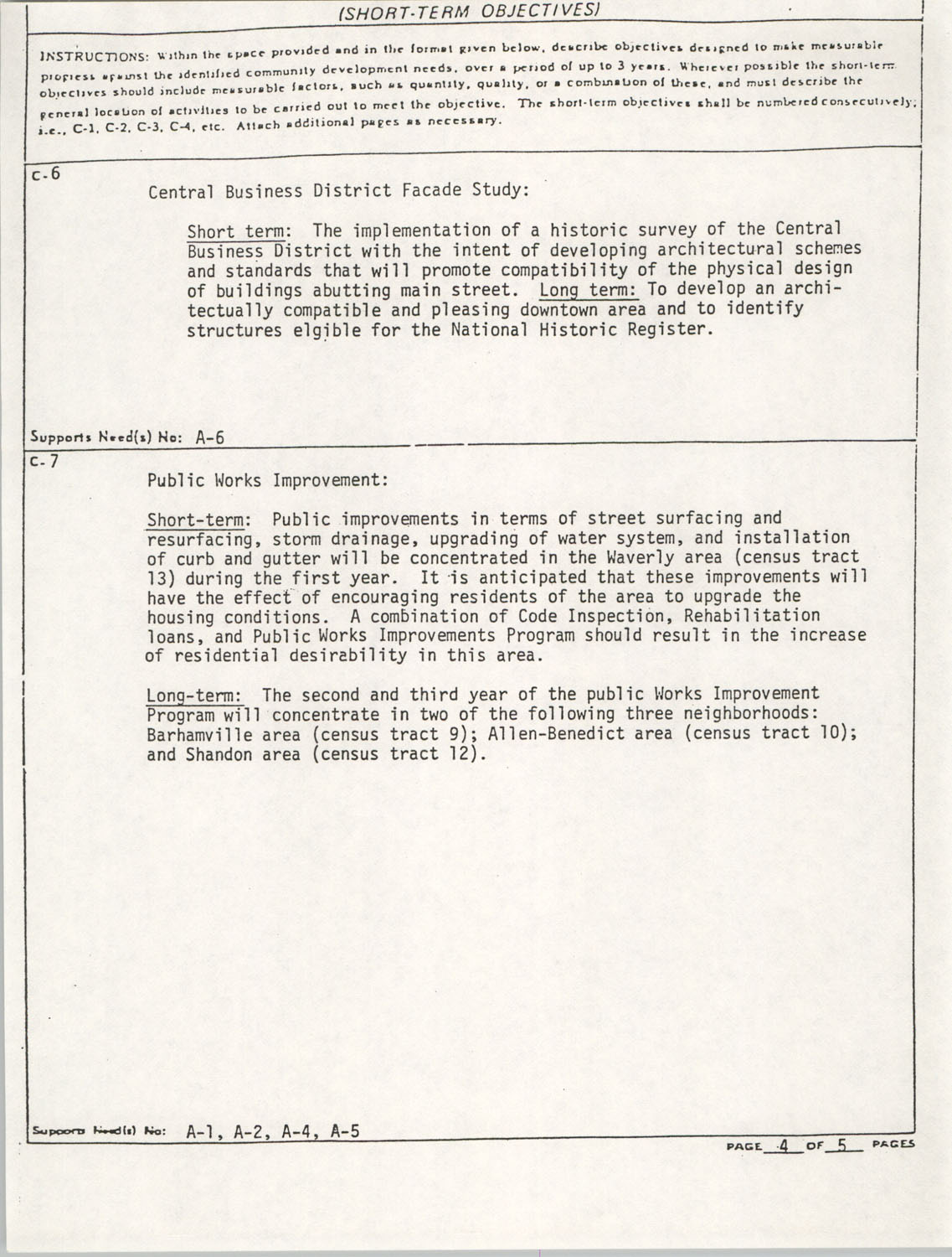 Community Development Act Columbia, South Carolina Materials, South Carolina,  Page 11