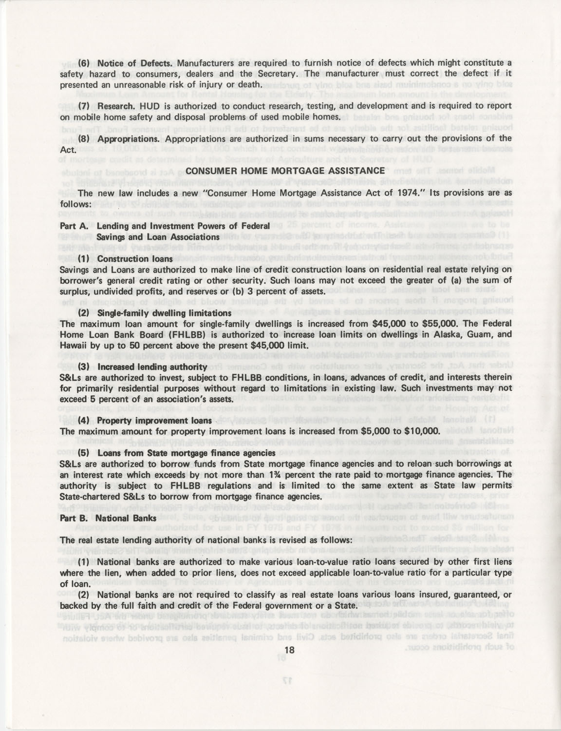 Summary of the Housing and Community Development Act of 1974, Page 18