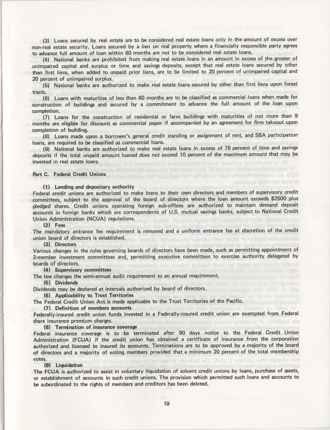 Summary of the Housing and Community Development Act of 1974, Page 19