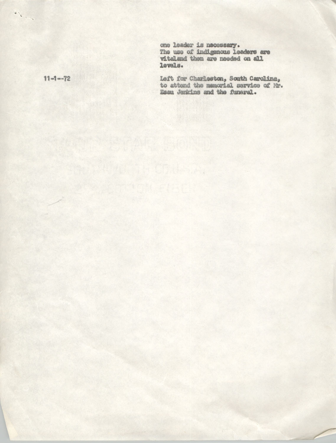 Schedule for Sojourn in Santa Cruz, College Seven, October 8 to November 1, 1972, Page 9