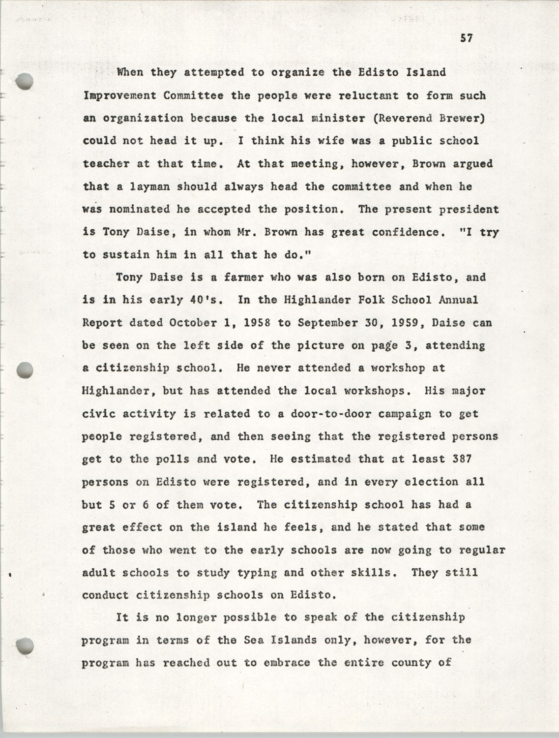 Citizen Participation. Democracy and Social Change, December 1, 1969, Page 57