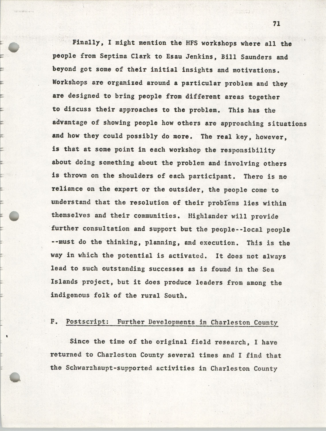 Citizen Participation. Democracy and Social Change, December 1, 1969, Page 71