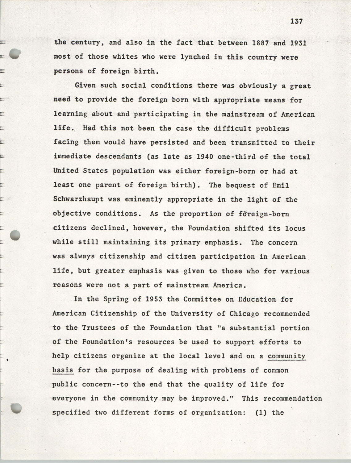 Citizen Participation. Democracy and Social Change, December 1, 1969, Page 137