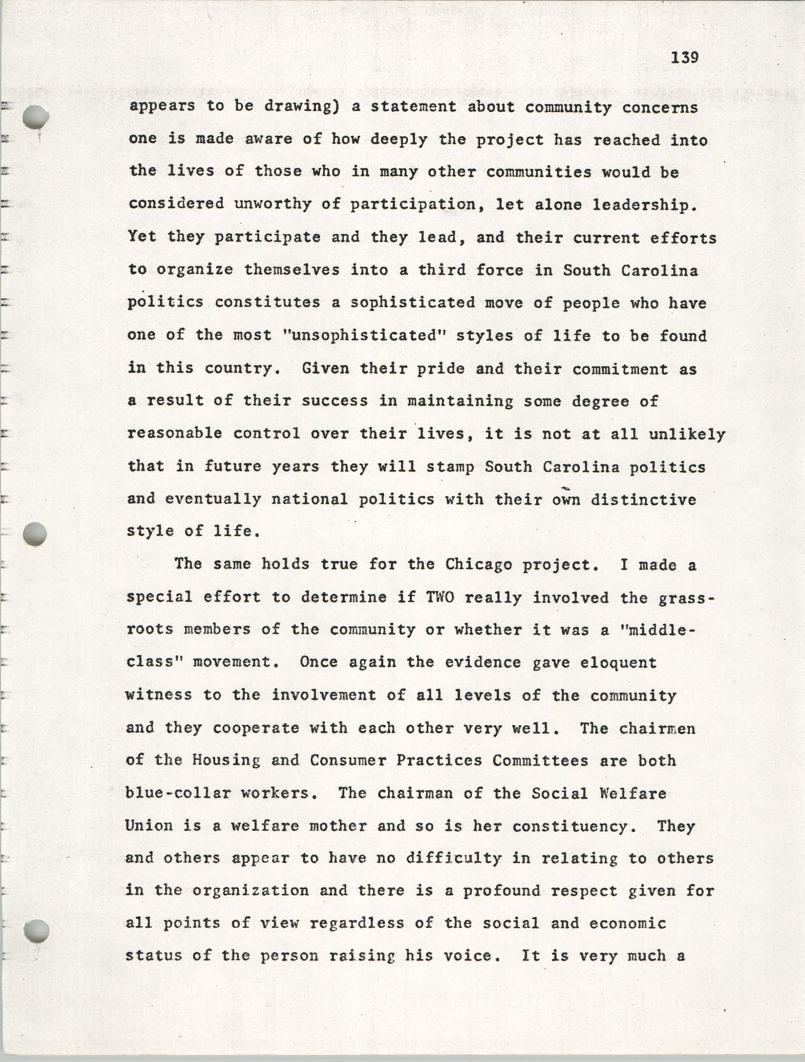 Citizen Participation. Democracy and Social Change, December 1, 1969, Page 139