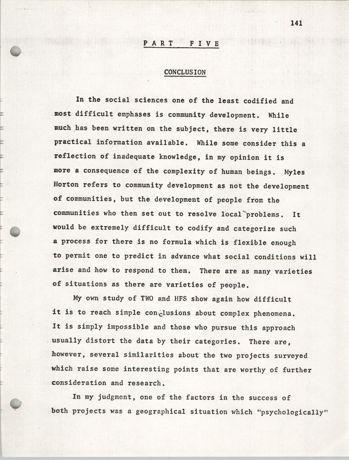 Citizen Participation. Democracy and Social Change, December 1, 1969, Page 141