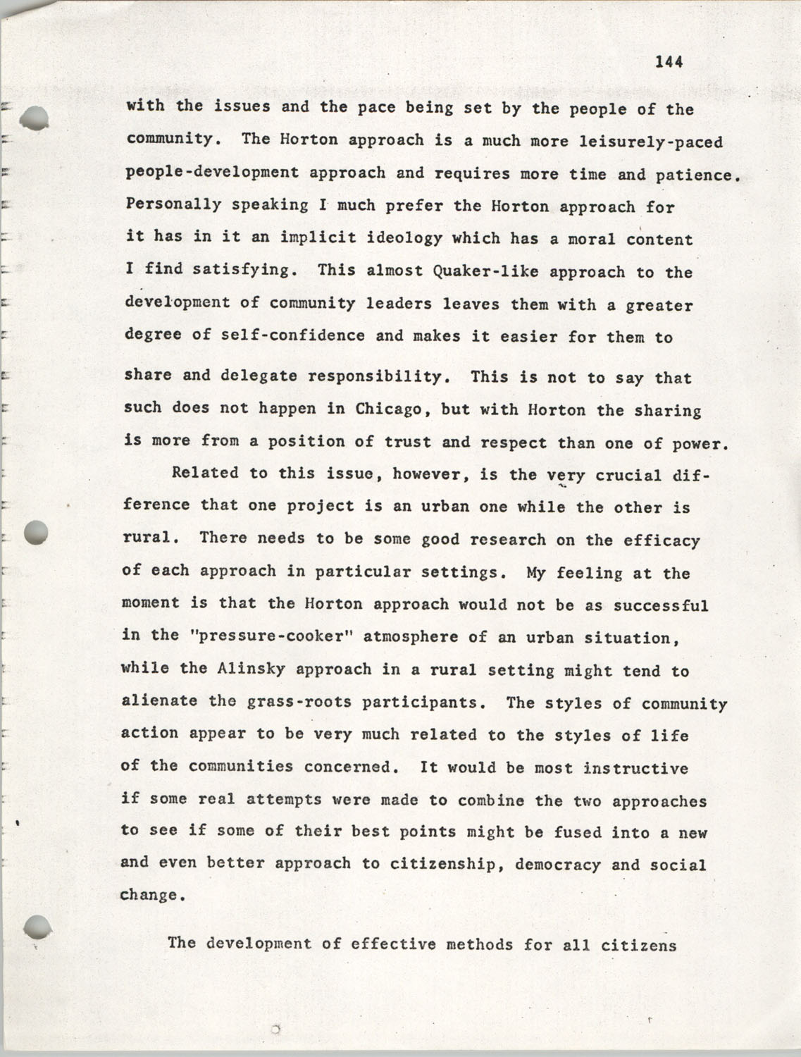 Citizen Participation. Democracy and Social Change, December 1, 1969, Page 144
