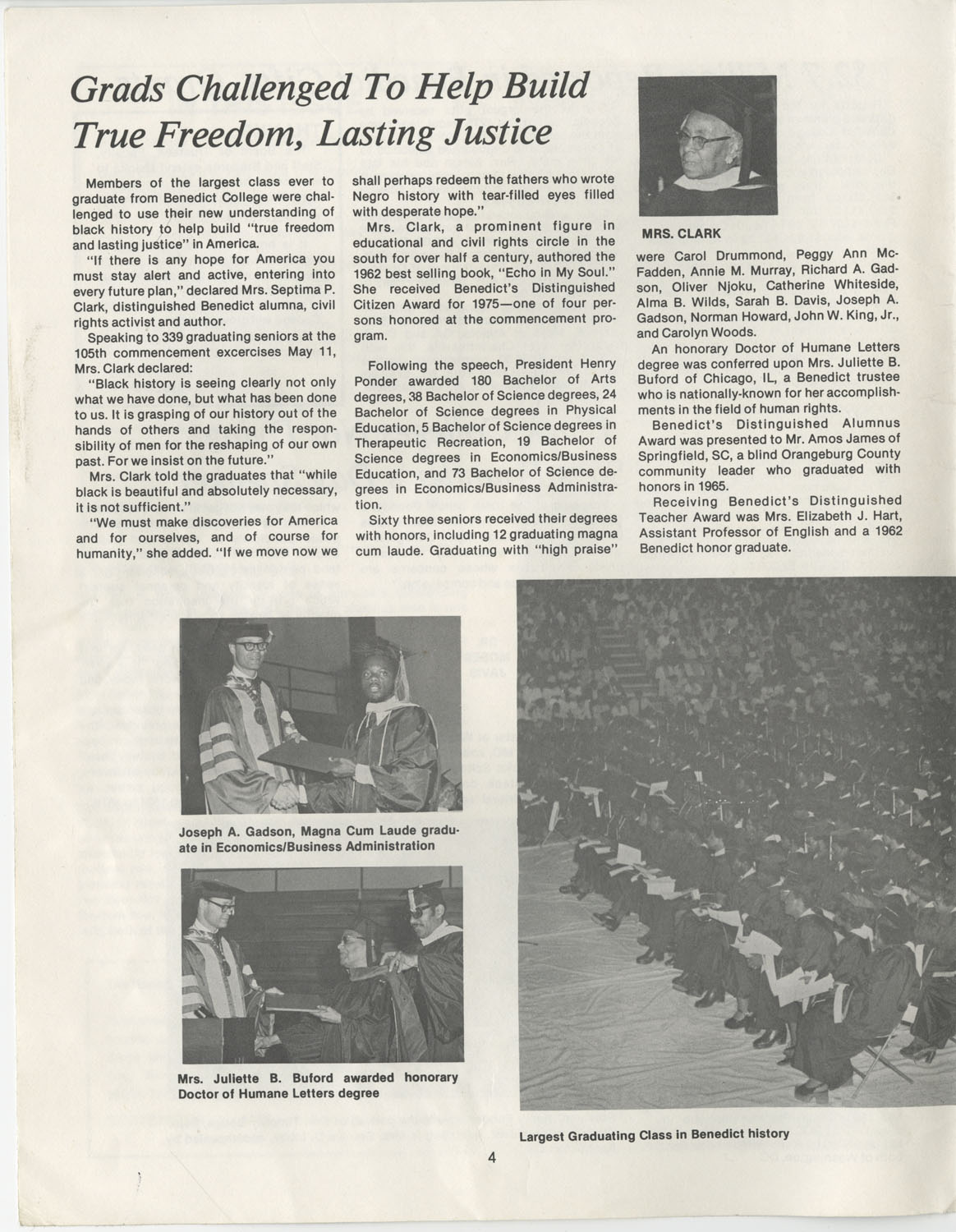 The Benedict Bulletin, September 1975, Page 4