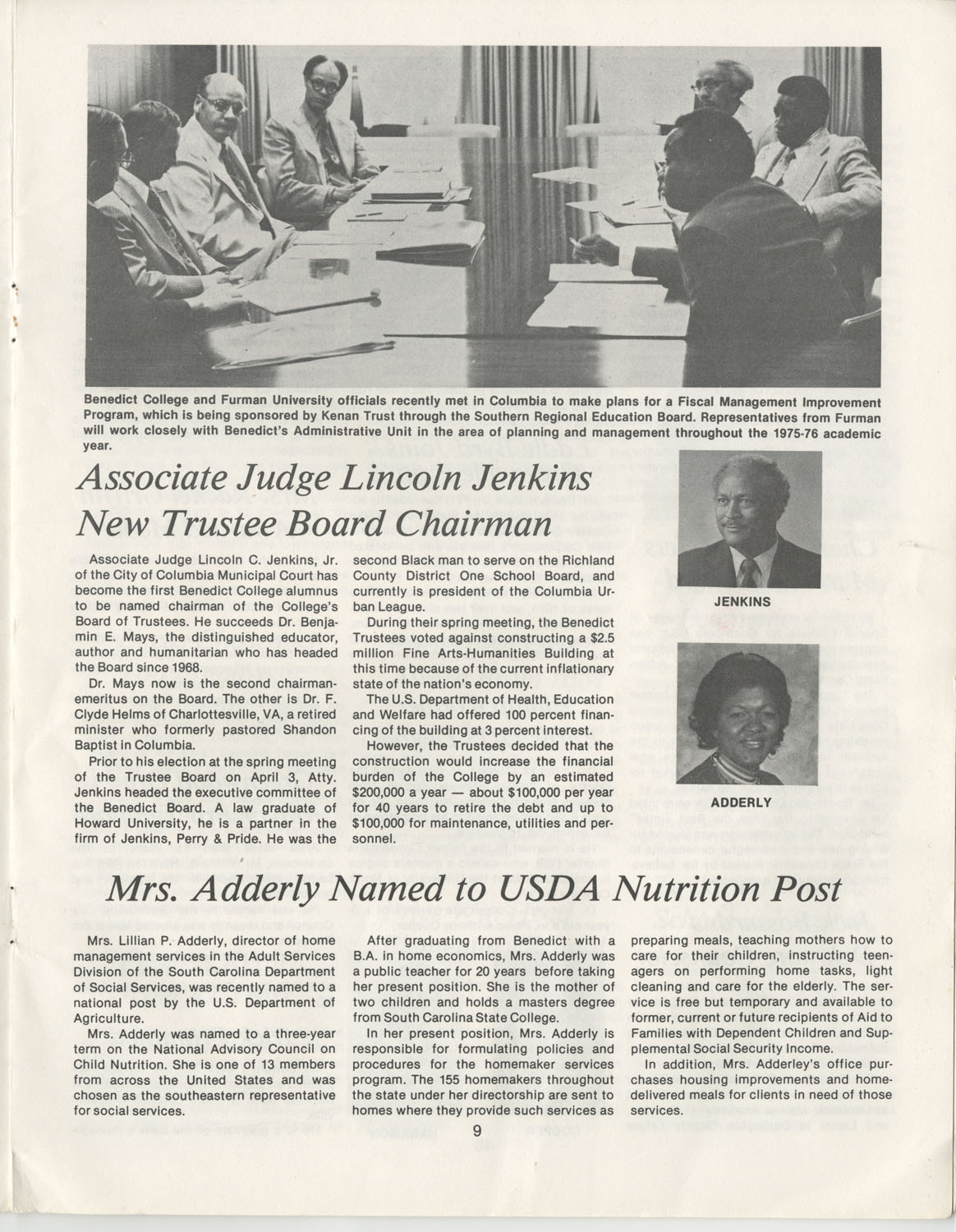 The Benedict Bulletin, September 1975, Page 9