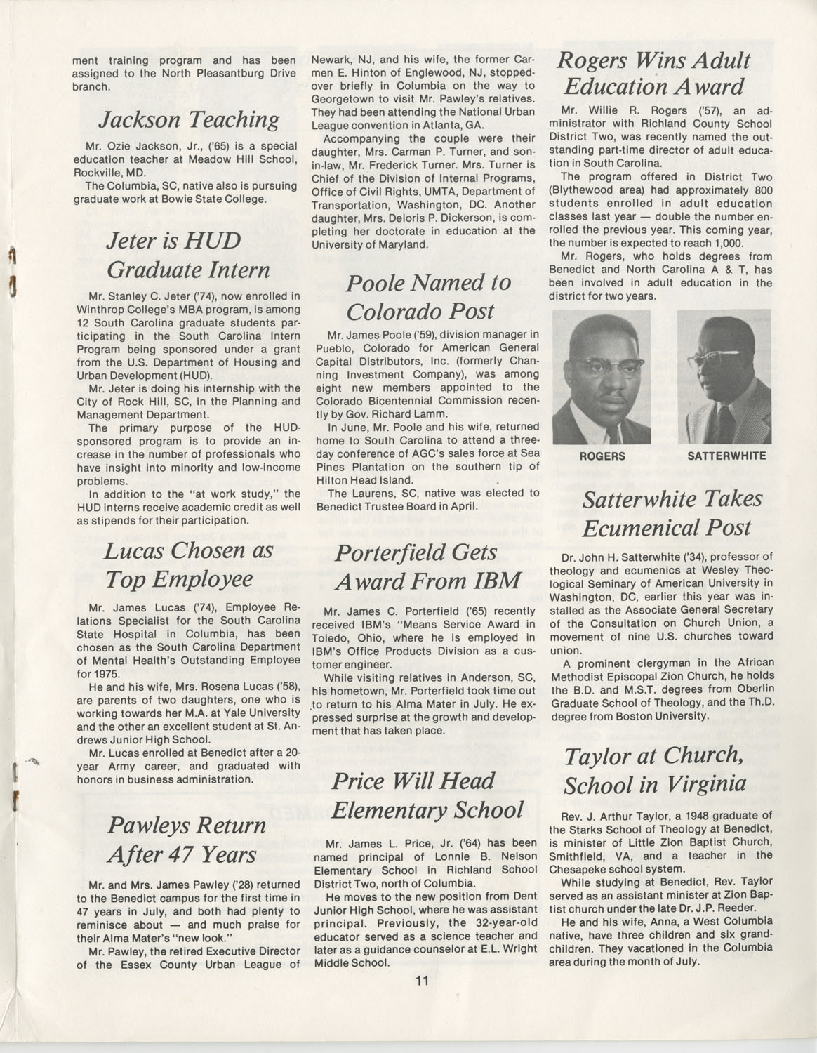 The Benedict Bulletin, September 1975, Page 11