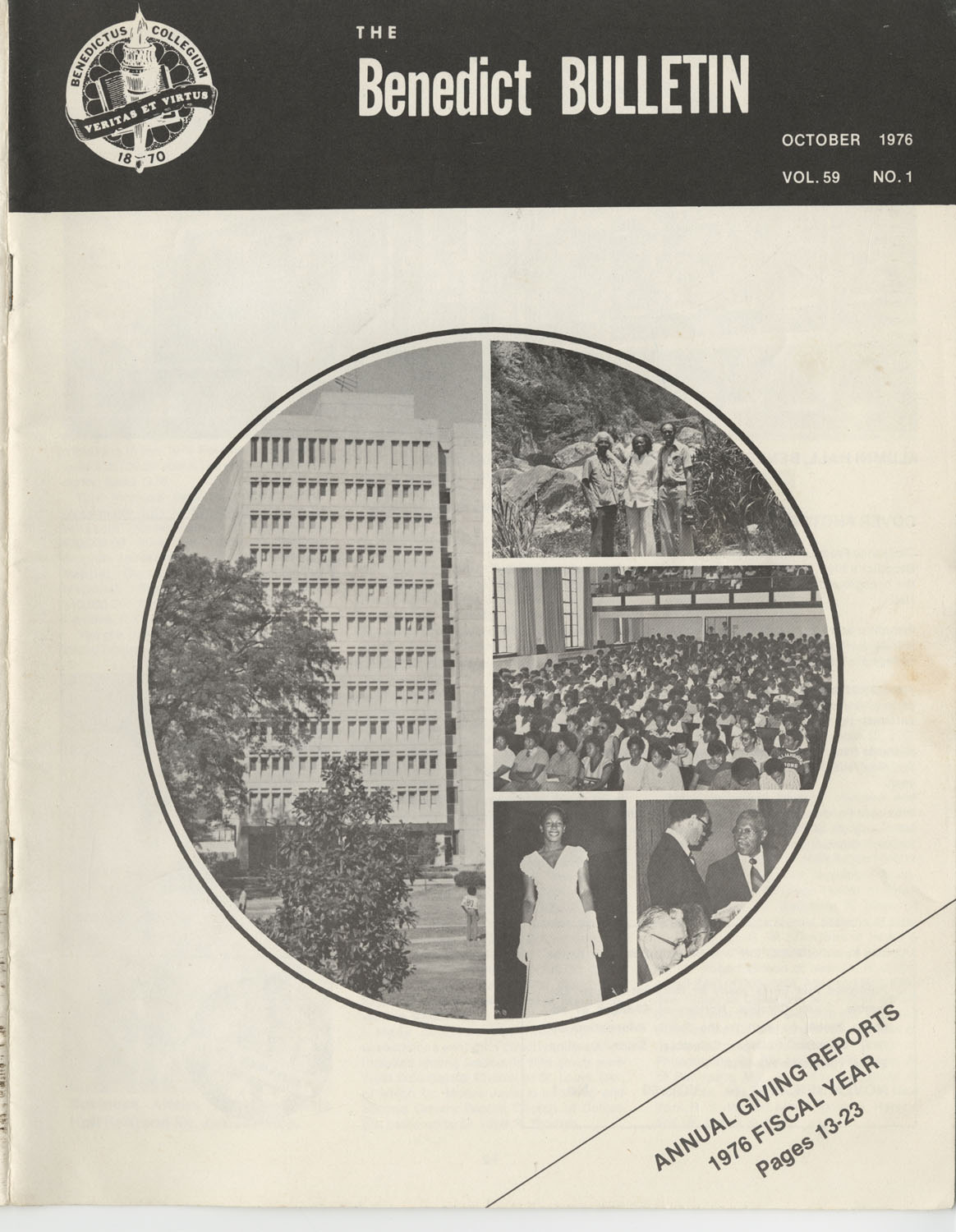 The Benedict Bulletin, October 1976, Front Cover