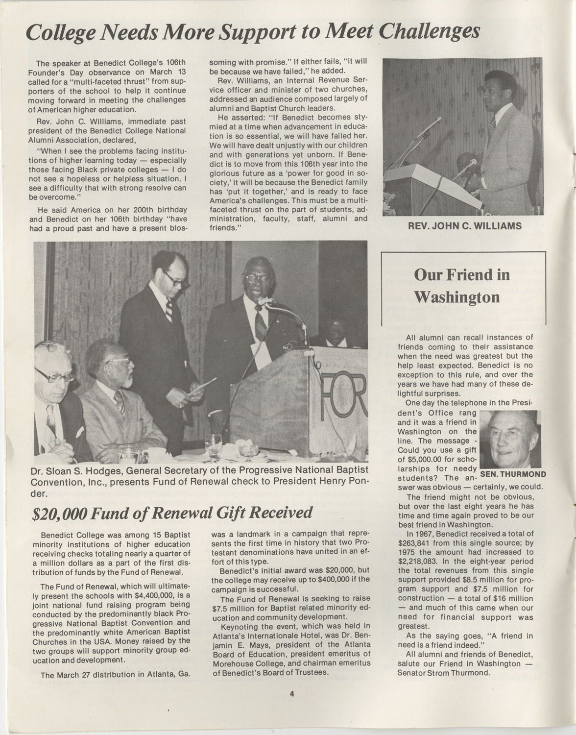 The Benedict Bulletin, October 1976, Page 4
